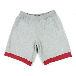 Jordan Men's Basketball Training Shorts Size 3XL Gray/Red