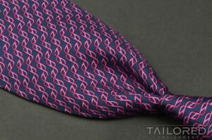 "HERMES 5467 FA Purple Geometric DNA 100% Silk Mens Luxury Tie - 3.625"""