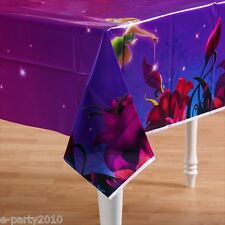 TINKER BELL PLASTIC TABLE COVER ~ Birthday Party Supplies Disney Fairies Decor