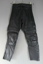 KETT BLACK LEATHER BIKER TROUSERS SIZE 10:  WAIST 26 INCHES/INSIDE LEG 27 INCHES
