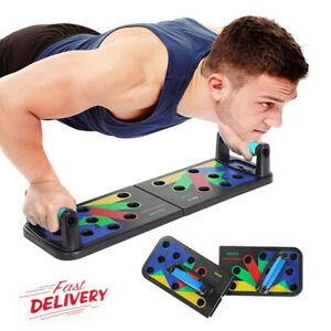 9 in1 Push Up Rack Board Fitness Workout Gym Muscle Exercise Pushup Stands