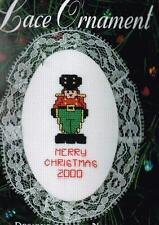Nutcracker Lace Ornament Counted Cross Stitch Kit - NEW