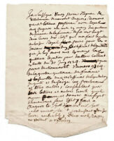 1727 LOUIS XV lord manuscript receipt letter with signature
