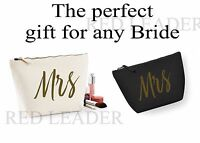 Mrs Make Up Cosmetic Wash Bag Wedding Gift Bridal Party Hen Favours Bag Present
