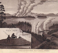 Yellowstone National Park 1890's Fish Pot Photo-Lith Jersey Coffee Trade Card