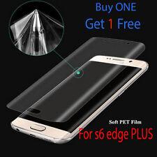 New Samsung Galaxy s6 Edge PLUS Curved TPU Full Screen Protector Ultra Clear