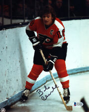 BOB BOBBY CLARKE SIGNED AUTOGRAPHED 8x10 PHOTO PHILADELPHIA FLYERS BECKETT BAS
