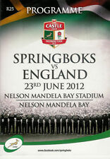 SOUTH AFRICA v ENGLAND 23 Jun 2012, 3rd TEST ast PORT ELIZABETH RUGBY PROGRAMME