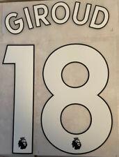 Flocage Nameset Giroud #18 Chelsea 2019-2021 Home Domicile