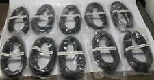 Lot of 10Pcs of 6Ft F-Type Screw-on Rg6 Hd Satellite/Cable-Tv Antenna Cable Bk