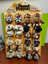 Vintage pound puppy mini lot 24 in display stand signed by creator Mike Bowling