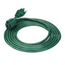 Clear Power 15 ft Lawn & Garden Outdoor Extension Cord, Grounded Plug, Cp10198