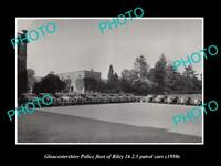 OLD 6 X 4 HISTORIC PHOTO OF GLOUCESTERSHIRE POLICE PATROL CARS RILEY 16 c1950