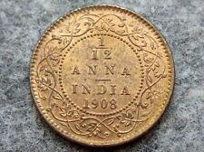 INDIA EDWARD VII 1908 1/12 ANNA UNC LUSTRE