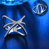 EG_ Women's Fashion Cubic Zirconia Wedding Engagement Hollow Ring Jewelry Advanc