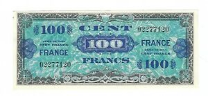 France - WWII  Allied Currency  1945, 100 Francs   !!A-UNC!!