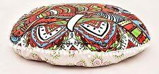 Indian Elephant Mandala Round Floor Pillow Ottoman Poufs Cover Cushion Seat Boho