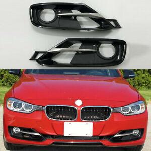 2 Pcs Front Bumper Fog light Grille Cover Trim Fit For 2012-2015 BMW 320 328 335