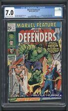 MARVEL FEATURE 1 Origin & 1st App The Defenders Marvel 1971 CGC 7.0 Graded