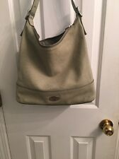 Beautiful Soft Green Cowhide Leather Fossil Hobo Purse Snake Embossed!