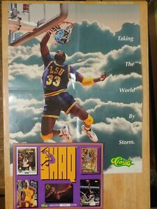 SHAQ SHAQUILLE O'NEAL Taking the World by Storm Classic Poster & Card LSU TIGERS