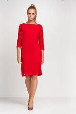 Ladies Formal Dress 3/4 Sleeve Knee Length Office Tunic Plus Sizes 8 - 18 FA436