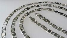 925 echt Silber 5,45 mm 65 cm Plattenkette Sterlingsilber Neu MASSIV Hals kette