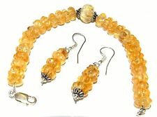 Natural citrine quartz bracelet and earrings...166.5 carat