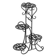 Indoor/Outdoor Metal Flower Pot Plant Stand Balcony Floor-standing Shelf Rack US