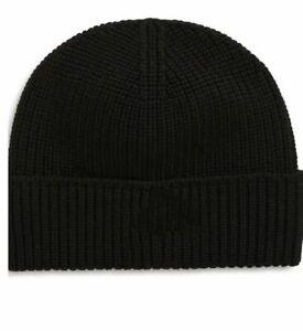 Women's Men's Hat Unisex Wool Winter Hat Knitted Black Hat
