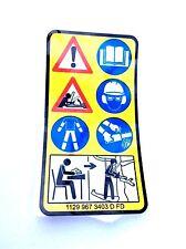 STIHL tronçonneuse Instruction étiquette 1129 967 3403 MS200 MS200T 020 020T