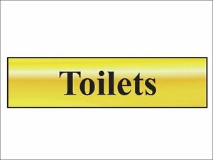 Scan - Toilets - Polished Brass Effect 200 x 50mm