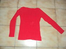 Sous-pulls uni rouge pour fille en 14 ans en TBE