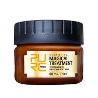 PURC 60ml Magical Keratin Hair Treatment Mask 5 Seconds Repairs Damage Hair C4S7