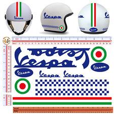 adesivi casco vespa strisce italia sticker helmet vespa italian flag 11 pz.