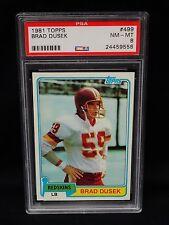 1981 TOPPS #499 Brad Dusek PSA 8 NM MINT NEW CASE 558 POP 8 Redskins