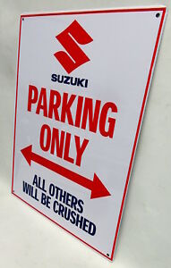 NEW Genuine Suzuki PARKING SIGN PLATE NOVELTY GIFT XMAS 99000-990AB-PP1