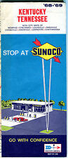 1968/69 Sunoco Kentucky/Tennessee Vintage Road Map