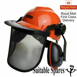 Chainsaw Safety Helmet Metal Mesh Visor Ear Defenders Latest CE Spec RocwooD