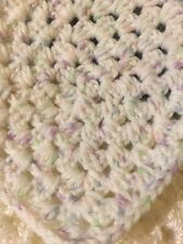 MINIATURE DOLLHOUSE BABY BLANKET Tiny Granny Square Number 2