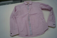 Scotch & soda señores Men camisa manga larga elástico talla M rosa blanco a rayas Top