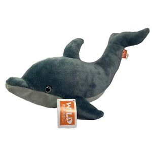 "Wild Republic Adult Aquatic Tail-Up Dolphin 15"" Plush Toy Stuffed Animal"