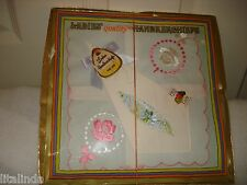 Vintage Embroidered Handkerchiefs Lot Of 2 Fruit Of Looms Cotton Nib