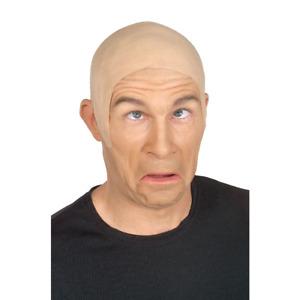 Bald Head Cap Latex Flesh Skin Skinhead Walter White Clown Mens Costume Adult