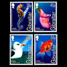 Gibraltar 2001 - EUROPA Stamps - Water, Treasure of Nature - Sc 871/4 MNH