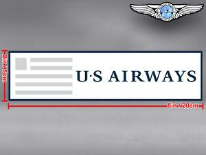 US AIRWAYS RECTANGULAR LOGO STICKER / DECAL