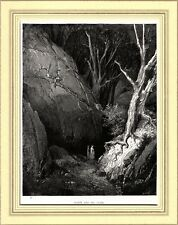 LA DIVINA COMMEDIA: INFERNO: CANTO I°: DANTE E VIRGILIO. Di Gustave Doré. 1890