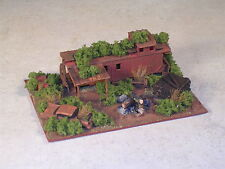 Z Scale Railroad Hobo Camp with Rusted Out  Caboose