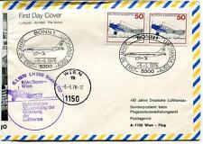 FFC 1976 Lufthansa Special Flight Boeing 737 50 jahrestag Bonn Wien