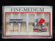 Paper Points Sterilized Fine Medium FM 200/box Endodontic Root Canal Obturation